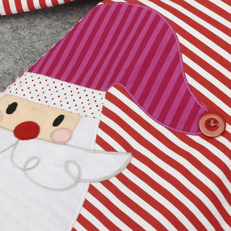 Baby Girls Christmas dress Deer Party Cosplay Costume Princess Santa Claus Elk Dress Stripe Manga larga tela