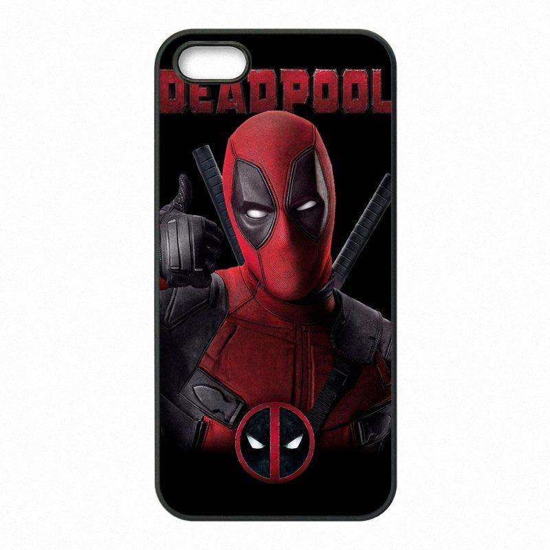 best loved 28ce8 45319 Deadpool Marvel Phone Covers Shells Hard Plastic Cases for iPhone 4 4S 5 5S  SE 5C 6 6S 7 Plus ipod touch 4 5 6