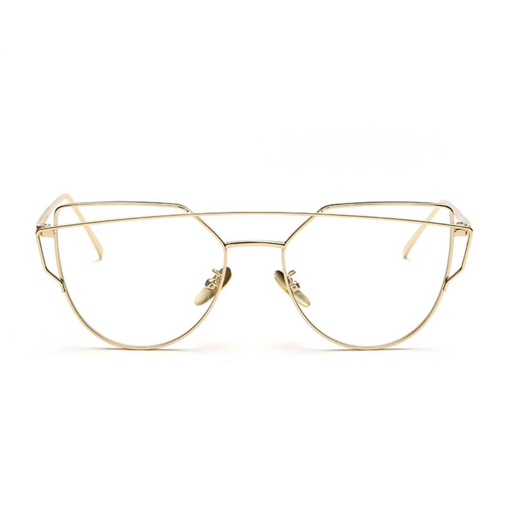 6bc796fd6ac 2019 Wholesale High Quality Retro Gold Glasses Frames Rimmed Clear Glasses  Optical Lenses Woman Transparent Lens Female Grade Eyeglass Frame From  Value333