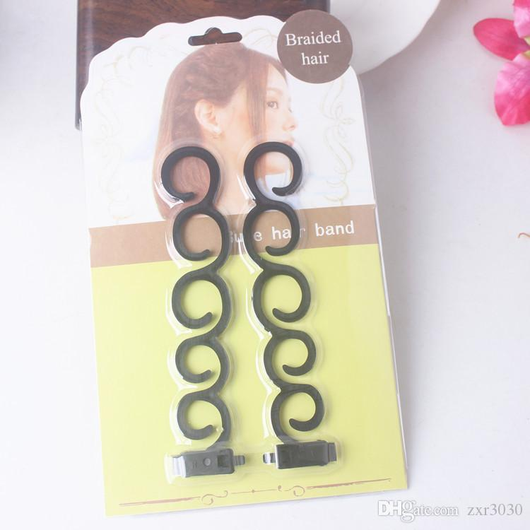 styling tool hair curler Hair Braiding Tool Braider Roller Hook With Twist Styling Bun Maker Hair Band Accessories