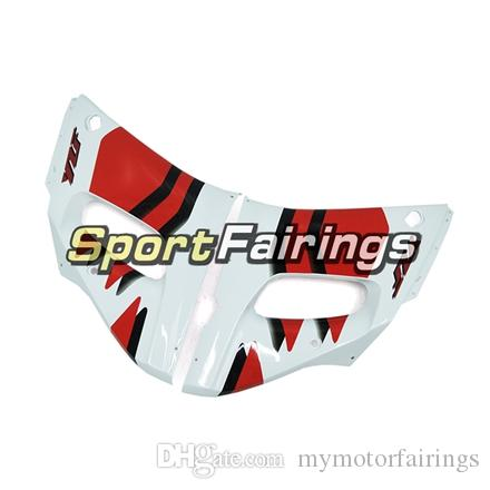 Complete Fairings For Yamaha YZF600 R6 YZF-R6 98 - 02 1998 1999 2000 2001 2002 Injection ABS Plastic White Red Motorcycle Fairing Kit Covers
