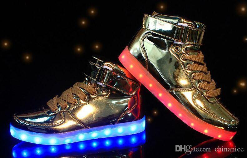Led Licht Schoenen : Basket light up led shoes mens shoes led schoenen unisex casual