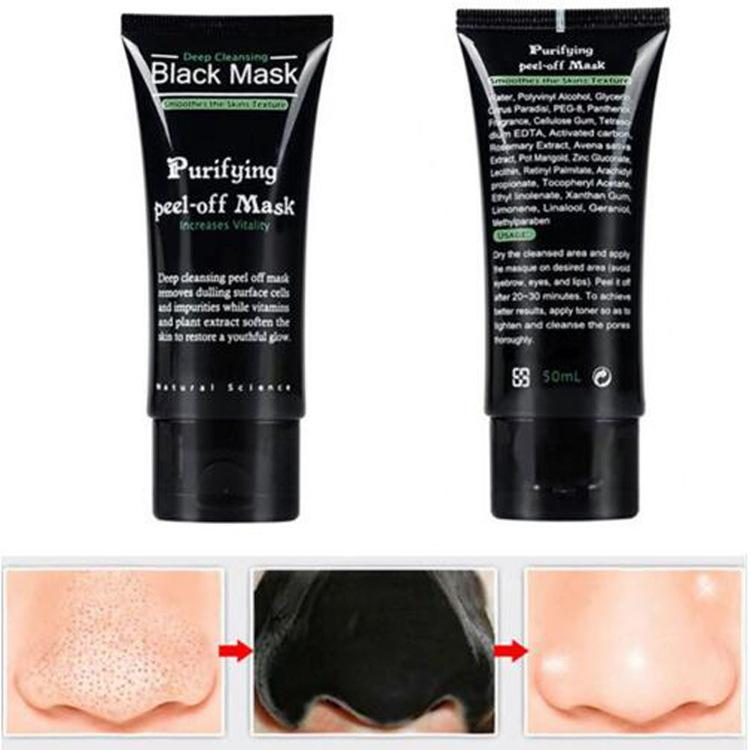 Blackhead Remover SHILLS Black Face Mask Nose Pore Facial Mask Deep Care Cleansing Mud Mask Purifying Peel Off Acne Black Heads Remover