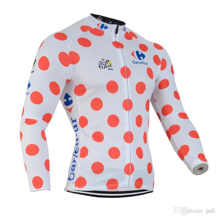 2017 Tour de france 2017 Ciclismo amarelo Jerseys Da Bicicleta Da Bicicleta Mangas Compridas MTB camisa de Ciclismo Camisas de Roupas D0754