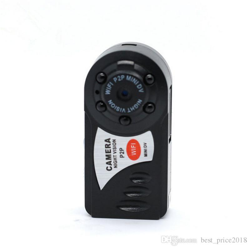Q7 Mini Wifi DVR Wireless IP Camcorder Video Recorder Camera Infrared Night Vision Camera Motion Detection Built-in Microphone Free DHL