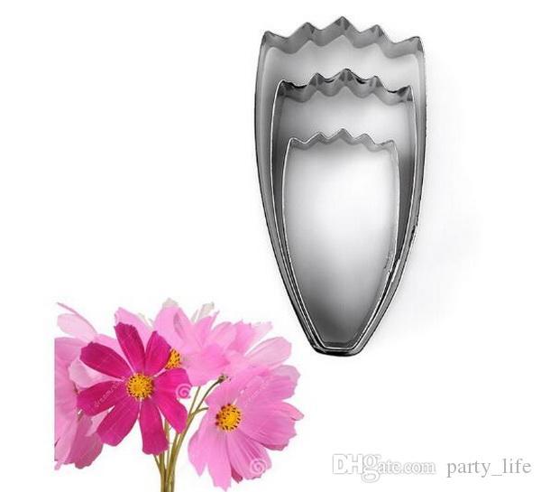 3 TEILE / SATZ Persien Chrysantheme Blütenblätter Edelstahl Kreative Plätzchenform Gestanzte Form Fondant Kuchenform Schneiden, 10 sätze / los