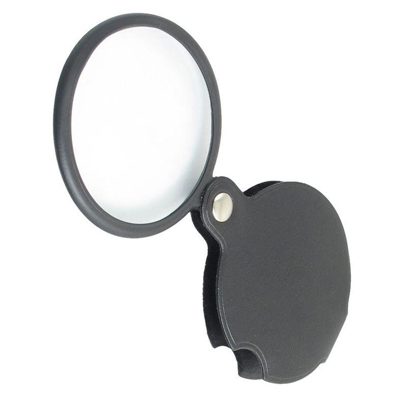 Loupe microscope portable loupe 60mm diamètre 50x 5x ronde loupe MG86034 w couverture noire + emballage de détail