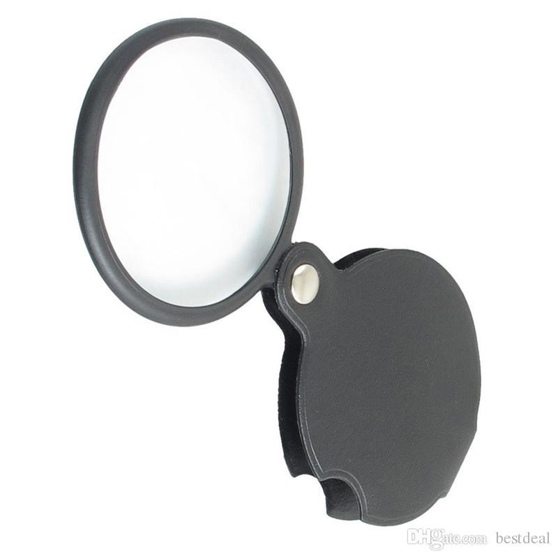 Microscopio portátil Lupa Lupa 60mm 50mm Diámetro 5X Lupa redonda MG86034 w Cubierta negra + Paquete al por menor