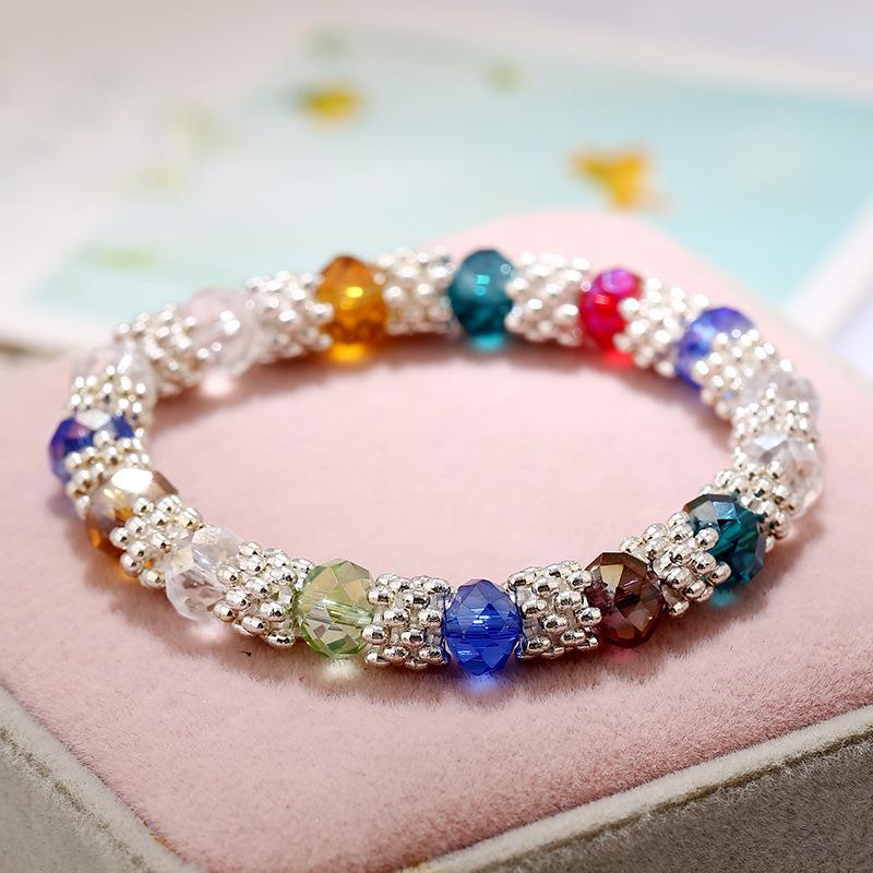 Arc-en-Charme Bracelet Simulé Perle Bracelets pour Femmes flocon de neige Lien Chaîne Cristal Parti Bijoux Bracelets Bracelets