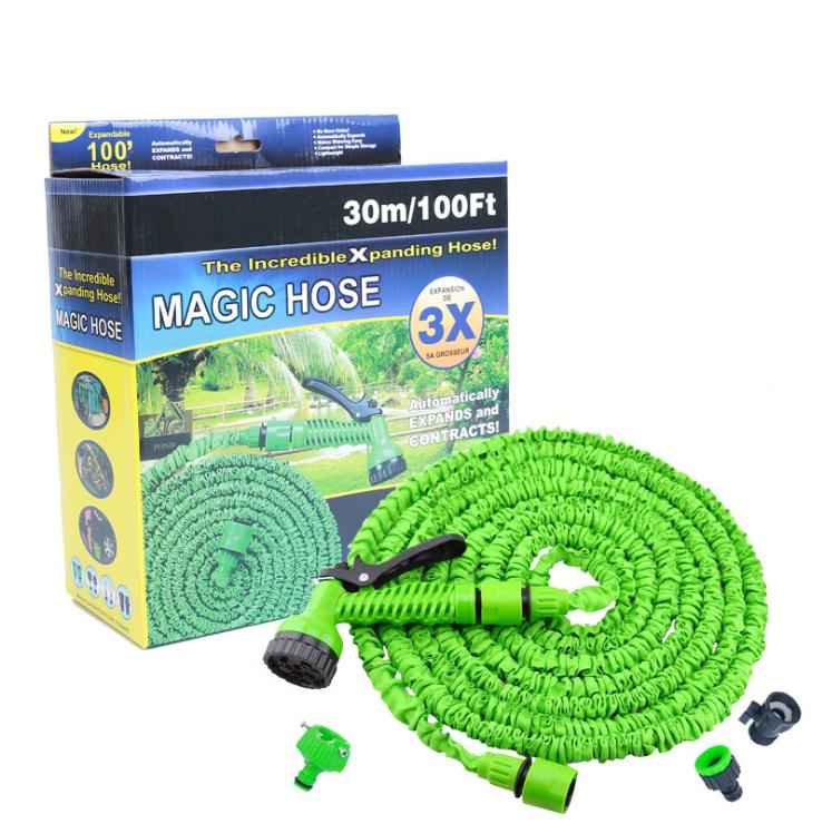 25FT-200FT Garden Hose Triple Expandable Magic Flexible Water Hose EU Hose Plastic Hoses Pipe With Spray Gun To Watering 30Pcs By DHL/Fedex
