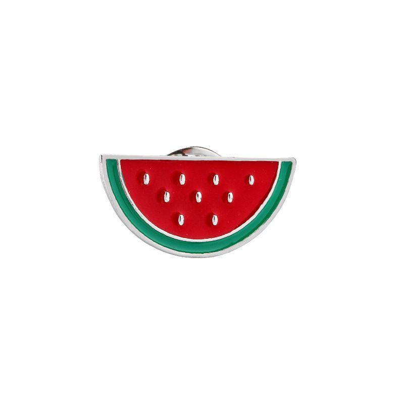 New Cartoon DIY Collar Brooch Set Rainbow Watermelon Pineapple Crow Eyesweyes Enamel Lapel Pins Badge for Women Fashion Jewelry Wholesaler