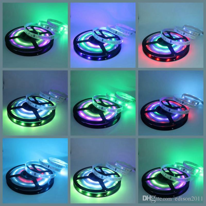 Edison2011 Dream Color RGB Magic LED Strip Light 505012V 5 M 150LEDS 6803 IC String + 133 Programma IP67 Waterdichte decoratiestrip Gratis schip
