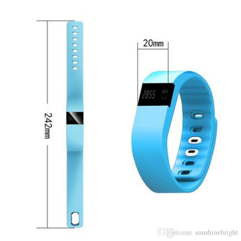 TW64 Smartband Banda Inteligente Rastreador de Fitness Pulseira TW64 Smartband Bluetooth Pulseira Esportes Smartwatch para Android iOS Smartphone