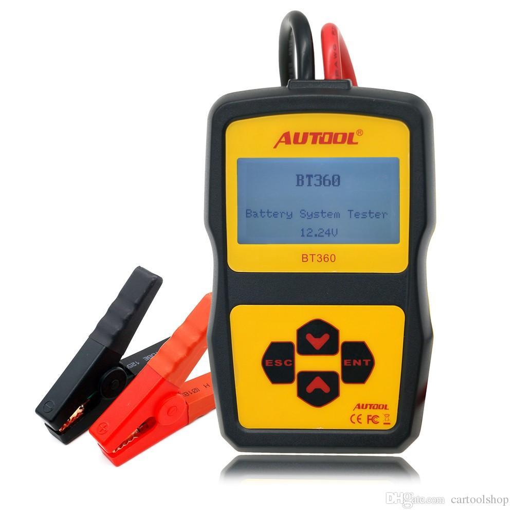 Original autool bt360 car battery tester 12v digital analyzer 2000cca 220ah multi languages bad cell test car tools high quality diagnostic tools uk