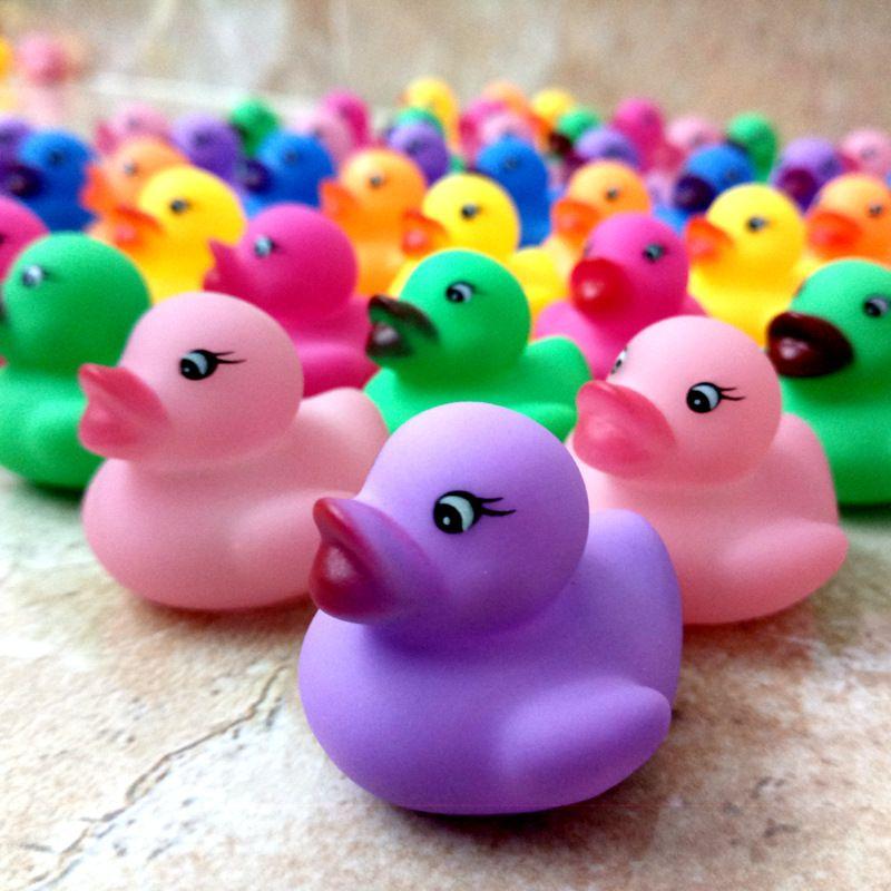 2018 Wholesale Bath Toy Rubber Duck Born Babies Swiming Bath ...