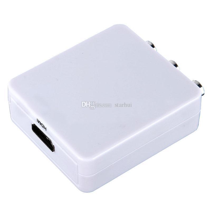 Mini HDMI2AV HDMI TO AV HD 1080P HDCP HDMI a 3 RCA Audio FL / FR CVBS NTSC PAL HD Video Converter Adattatore DHL Free WX-S05