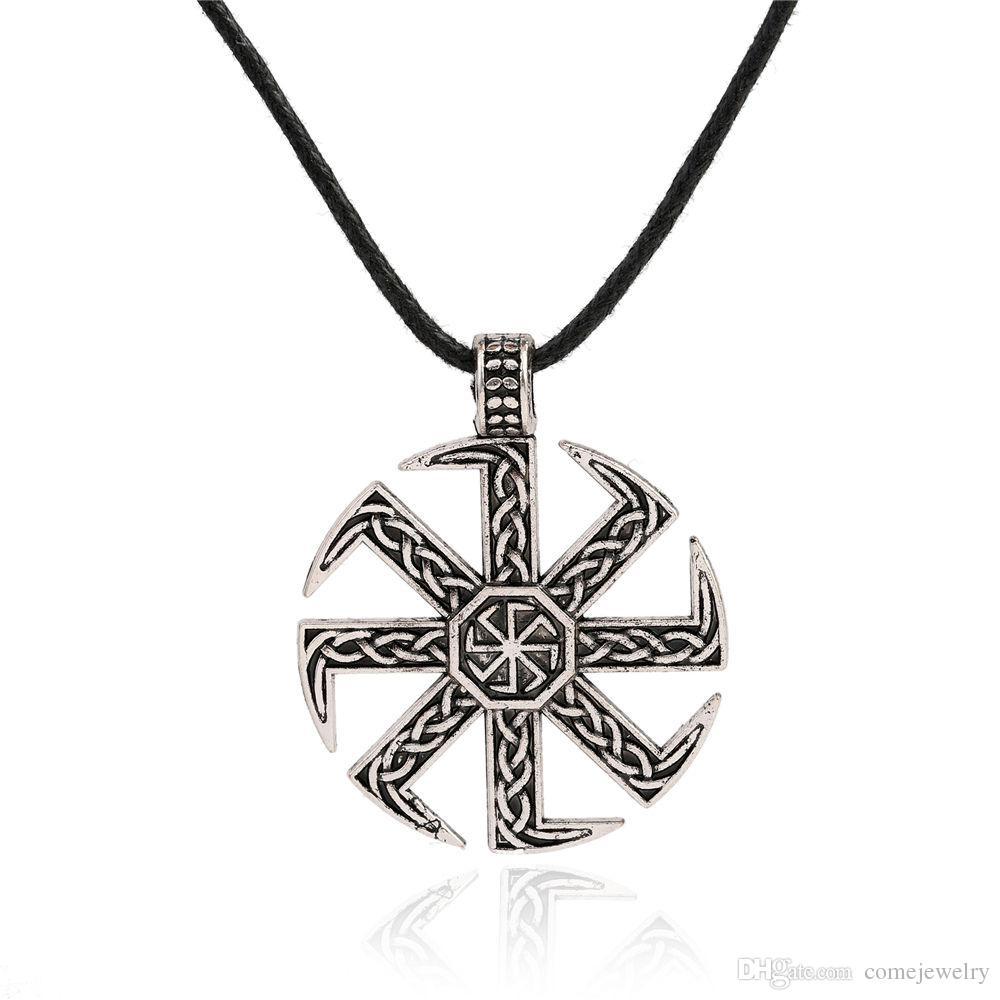 Wholesale Slavic Symbol Pagan Jewelry Sun Wheel Amulet Symbol Pagan