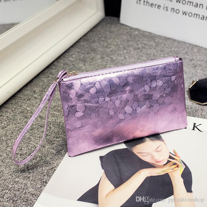 2017 neue hochwertige stein muster null geldbörse, frauen Koreanische blume hand halten langen abschnitt reißverschluss brieftasche großhandel DHL freies verschiffen