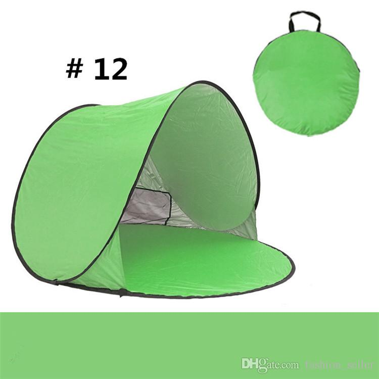 Quick Automatic Opening Outdoors Tents 50+ UV Protection Outdoor Gear Camping Shelters Tent for Beach Travel Lawn DHL/Fedex Shipping