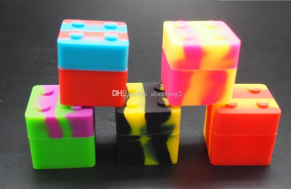 Silikonowe słoiki do palenia DAB z kontenerów baterii pojemniki woskowe baterii olejowe słoik mini pudełko