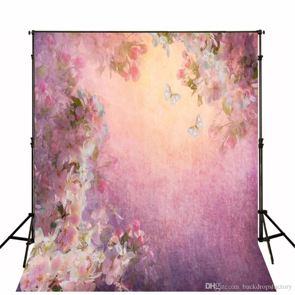 2018 Vintage Floral Photography Backdrops Hand Painted Beautiful