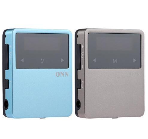 ONN X1 Mini Clip Sport MP3 Player Portable Music 8GB FM Radio Pedometer  Multi-funcation 3 5mm Audio Port Bluetooh HiFi Player