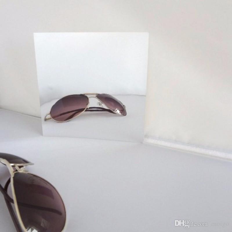 Dekoratif duvar aynalar 9 Adet 16 Adet Kare Ayna Kiremit Çıkartmalar 3D Çıkartması Mozaik Ev Oda Dekorasyonu DIY Oturma Odası Sundurma Için
