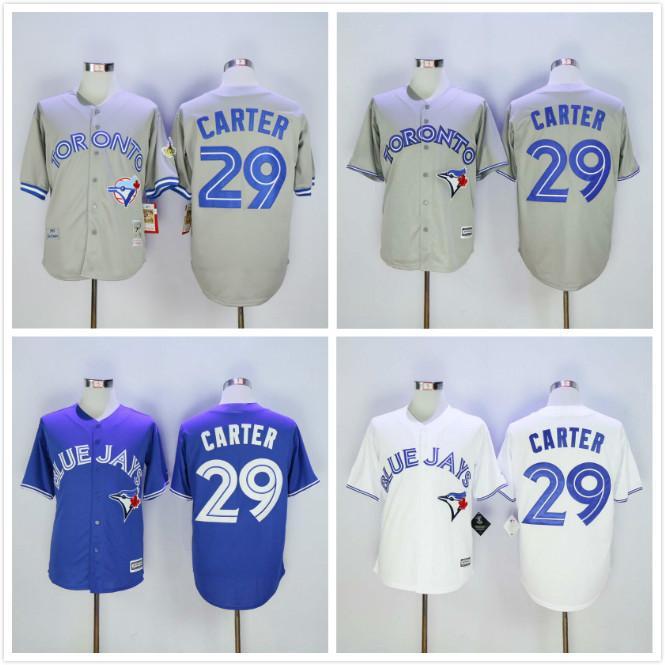 87f968dd7 Toronto Blue Jays 29 Joe Carter 1993 Light Blue Throwback Jersey 2017 2016  Majestic 1992 93 Joe Carter Blue Jays Jersey