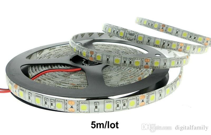 LED Strip Lights 5050 SMD Warmweiß kaltweiß blau rot grün Wasserdicht Flexible 300 LEDs mit Stecker