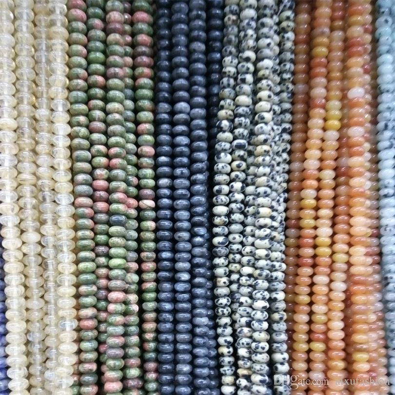 Oval Shape Oblate 5*8MM Natural Stone Beads Loose Beads for Charms High Quality Necklaces Bracelet DIY Fashion Jewelry Stone Bead 38cm
