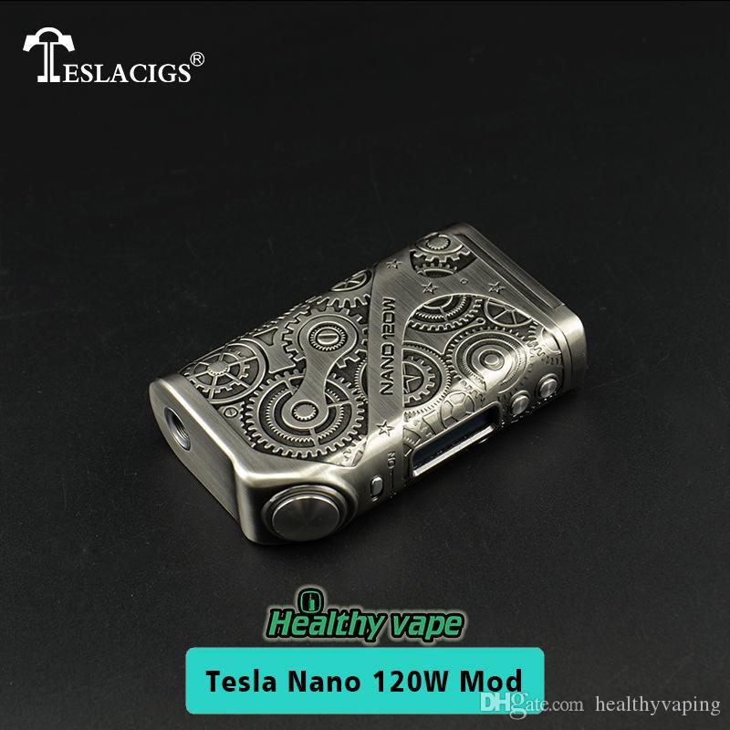 Tesla Nano 120w TC Mod Mod Teslacigs Nano 120 Vape Mod avec 510 fil 100% d'origine