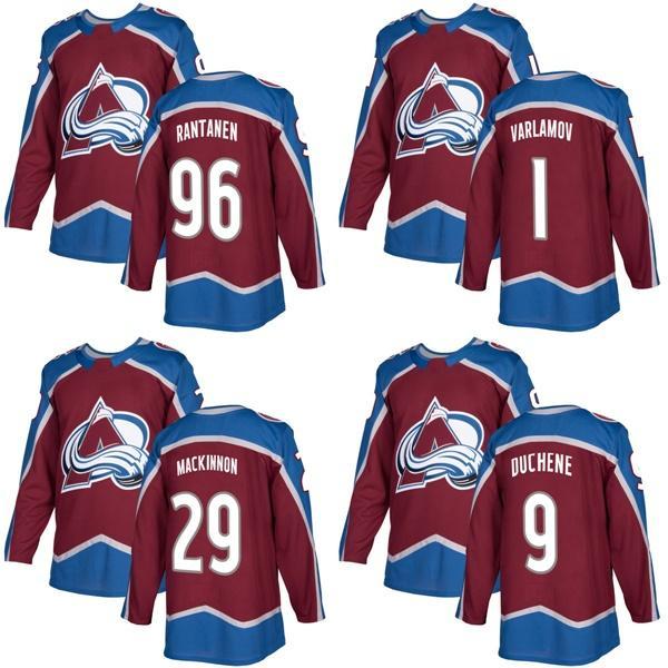 e97a98fd2 2018 2017 New Brand Mens Colorado Avalanche 1 Semyon Varlamov 9 Matt  Duchene 29 Mackinnon 96 Rantanen Burgundy Ice Hockey Jerseys Accept Custom  From Since