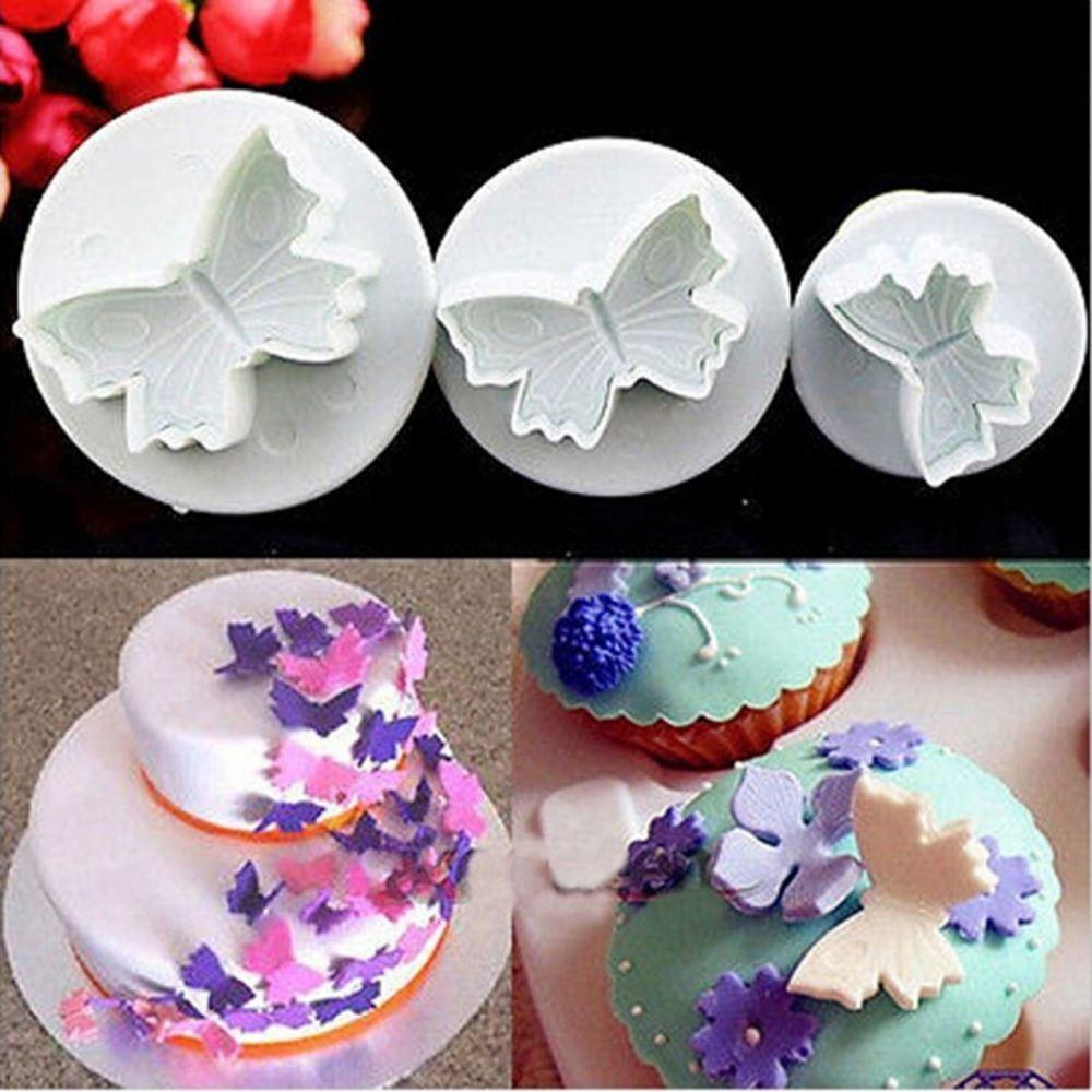 2019 New Sale Butterfly Plunger Cutter Mold Sugarcraft Fondant Cake