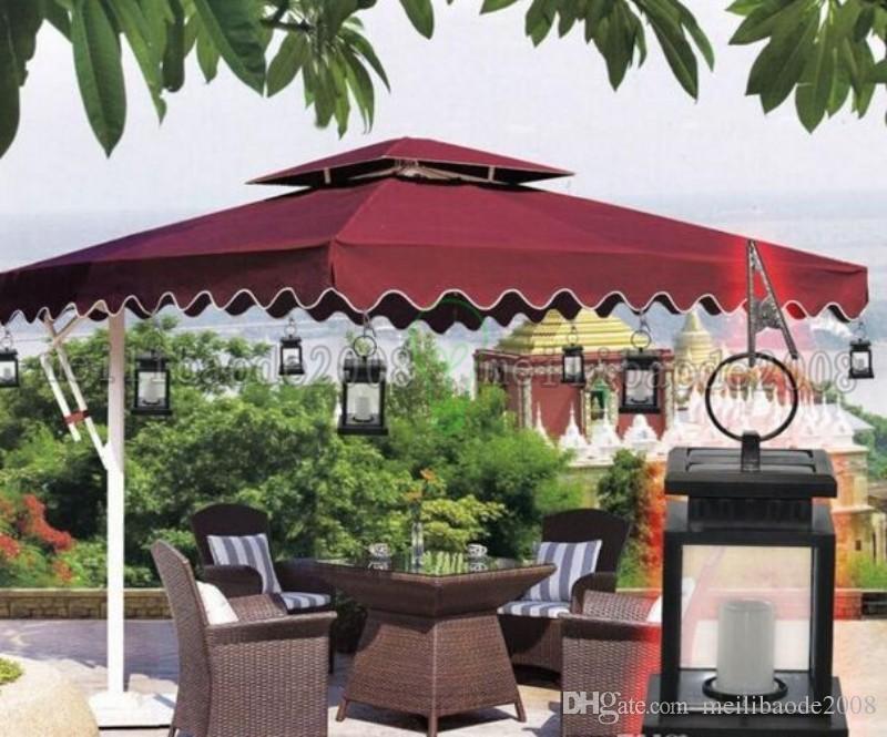 Vintage Güneş Enerjili Lamba Su Geçirmez Asılı Şemsiye Fener Mum Işıkları Kelepçe ile Plaj Şemsiye Ağacı Bahçe Yard Çim Aydınlatma Led