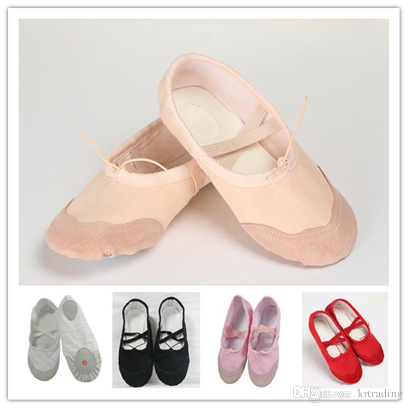 أطفال أحذية الباليه الناعمة الوحيد مضخات تو أحذية الأولاد girsl ممارسة أحذية الباليه الرقص أحذية للأطفال الصغار 3-16T