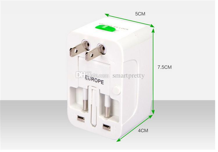 Universal International Steckeradapter World Travel Steckdose Steckeradapter USB-Anschluss Ladegerät Konverter Stecker und Buchsen US UK EU AU