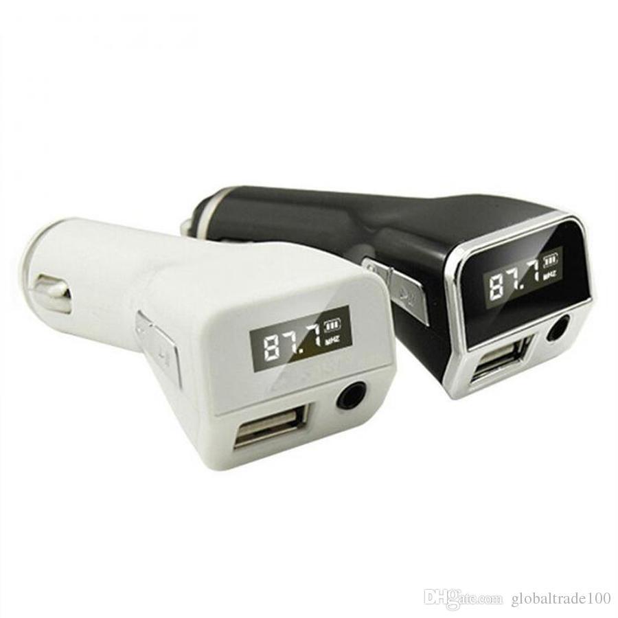 5 V 2.1A M81 Carkit Zender Handsfree MP3-speler Draadloze FM AUX-uitgang Surporrt USB-oplader Muziekspeler Auto-oplader
