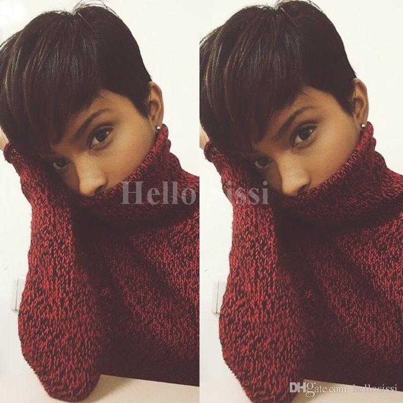 Short Wigs Rihanna Pixie Cut Short Hair Style Cuts