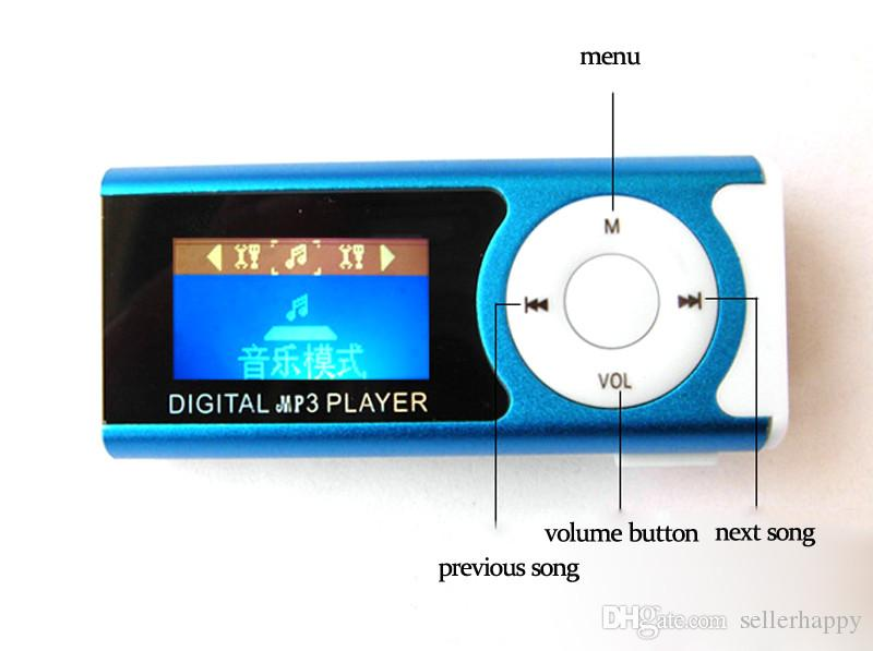 New arrival mini FM radio with LCD screen built in speaker music Support 2GB 4GB 8GB 16GB 32GB TF card MP3 player