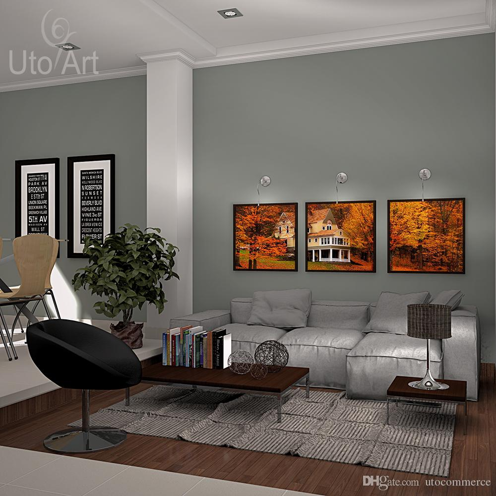 More Piece Modern Wall Decor Painting Autumn Landscape Art Print Decorative Digital Picture Canvas Printing for Home Decor