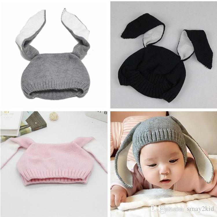 2019 MAKA Kids Winter Baby Rabbit Ears Knitted Hat Infant Toddler Cap For  Children 0 3 Yrs Girl Boy Accessories Photography Props From Smay2kid 8228829e563d