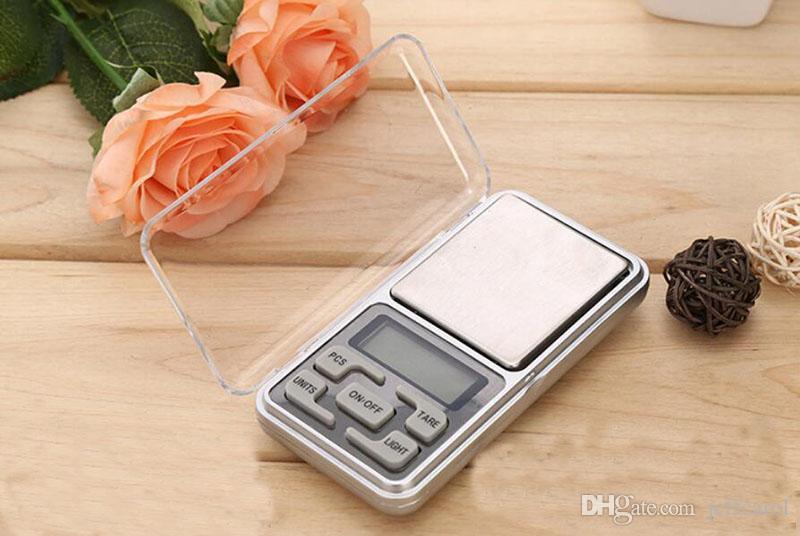 200 pz da DHL Fedex 200G / 0.01G Mini Bilancia da taschino gioielli elettronici digitali portatili con scatola al minuto