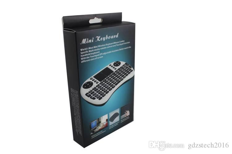 Fly Air Mouse I8 백라이트 리튬 배터리 버전 2.4G 무선 키보드 원격 제어 장치 터치 패드 PC 노트북 안 드 로이드 TV 박스
