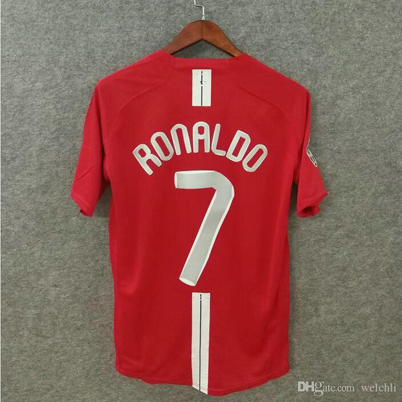 7ba36eea97a 2019 Classic 2007 2008 MU Retro Soccer Jerseys Utd Football Shirts Top  Quality Soccer Clothing Custom Name Number Ronaldo 7 FINAL MOSCOW From  Welchli