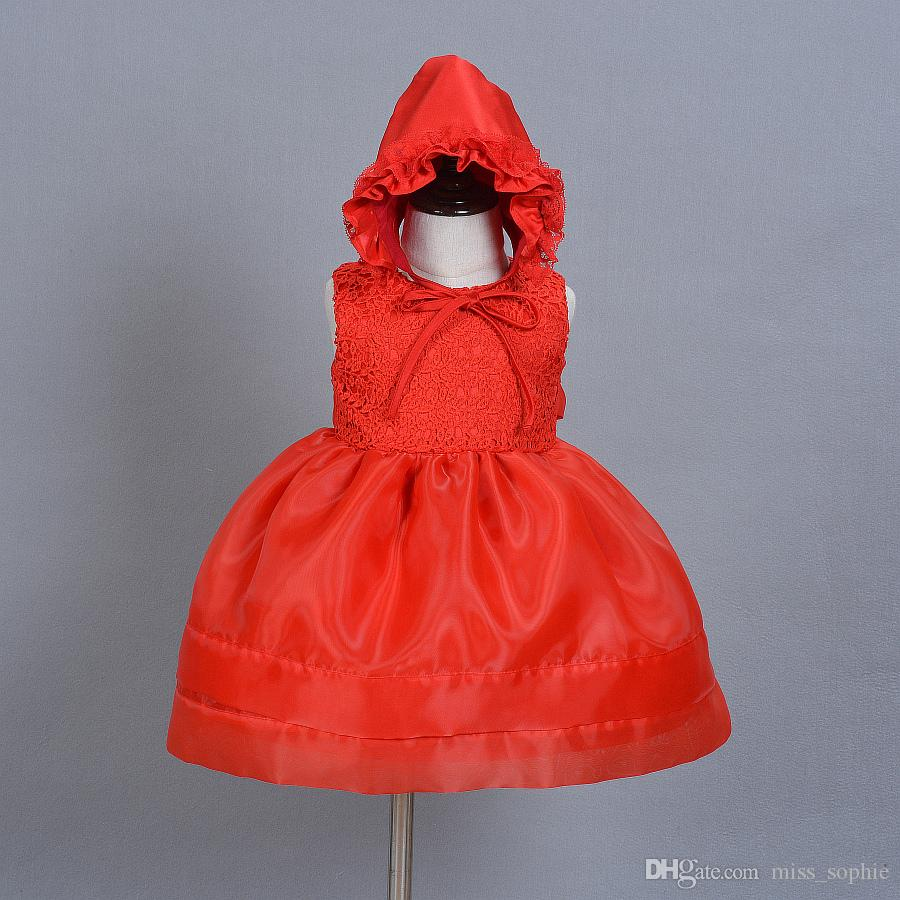Großhandel 2 Stück Set 0 18monate Red Infant Prinzessin Taufkleid ...