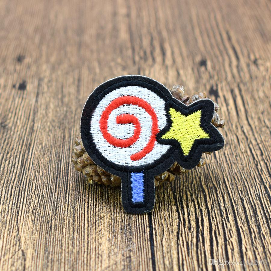 Cute Lollipop Embroidered Patches for Kids Clothing Iron on Transfer Applique Patch for Jeans DIY Sew on Embroidery Badge Sticker