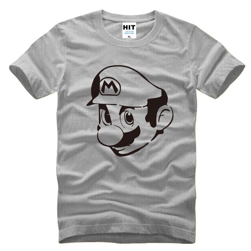 8c904183a5 Compre Super Mario Supermario Anime Mens Homens 2017 Nova Manga Curta O  Pescoço De Algodão Casual T Shirt Tee Camisetas Hombre De Dhfashionstoree