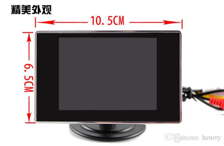 3,5-дюймовый автомобильный монитор 2-сторонний видеовход Автомобильный вид сзади TFT LCD автоматически отображается при движении задним ходом PZ702 Free Post
