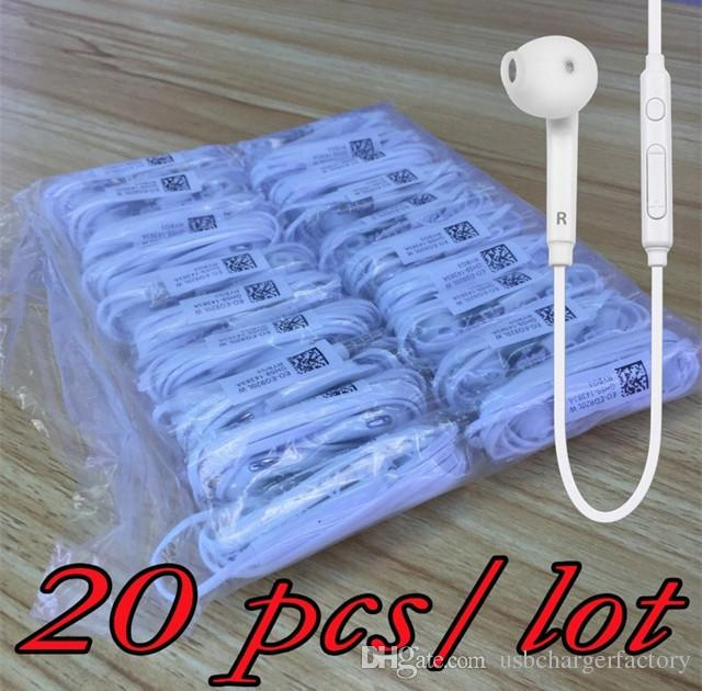 Weiß kopfhörer 3,5 mm kopfhörer mit mikrofon bass ohrhörer inohr kopfhörer für samsung galaxy eg920 s6 s7 s8 s10