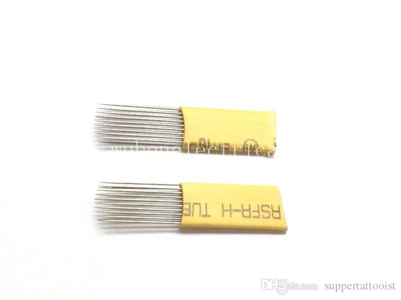21 U Shape Permanent Makeup Double Rows Tattoo Needles Double Line Eyebrow Microblading Blade For Permanent Makeup
